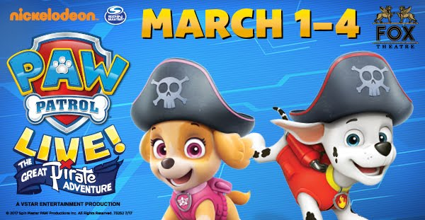 Paw Patrol Live! The Great Pirate Adventure Giveaway, Metro Detroit, shows, kids, family, for kids