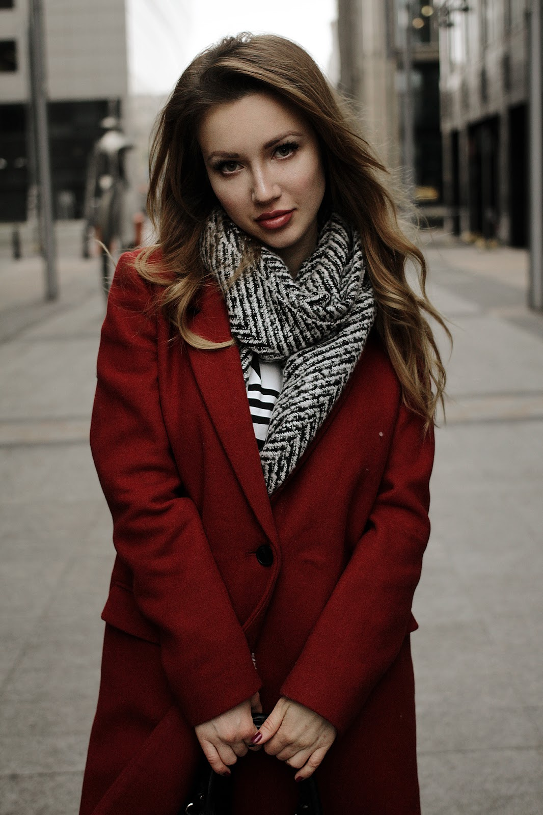 boyfriend coat, red, trendy, adidas originals, russian fashion blogger