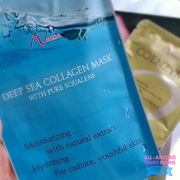 Novelina Deep Sea Collagen with Pure Squalene, Novelina Coenzyme Anti-Aging & Age-Defying Face Masks, Novelina. Affordable Face Mask, Best Face Mask, Face Mask PH, AAPM Tipid Ganda, My Cosmetic Fixation, Product Review, SJ Valdez, All-Around Pinay Mama blog