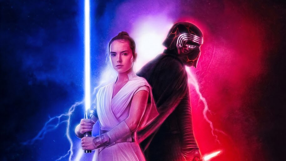 Star Wars The Rise Of Skywalker Poster Rey Kylo Ren 4k