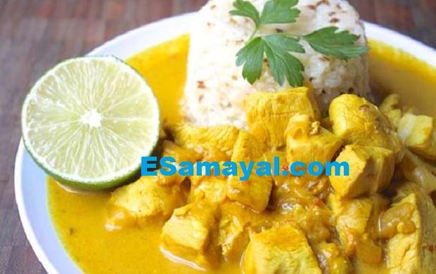 தேங்காய்ப்பால் சிக்கன் குழம்பு செய்முறை | Sidish Coconut Chicken Curry Recipe !