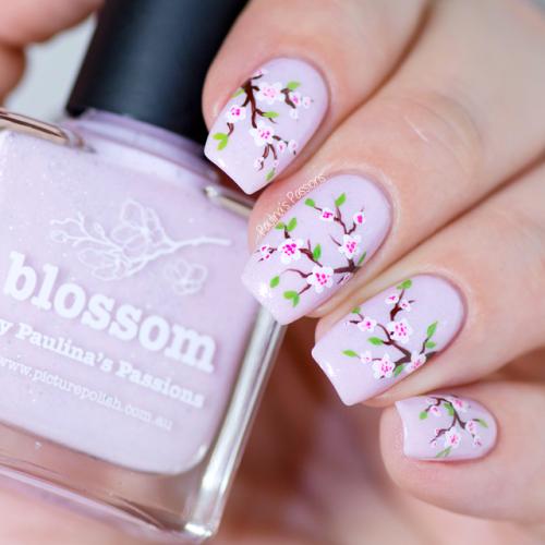 Chic Cherry Blossom Nail Art Tutorial