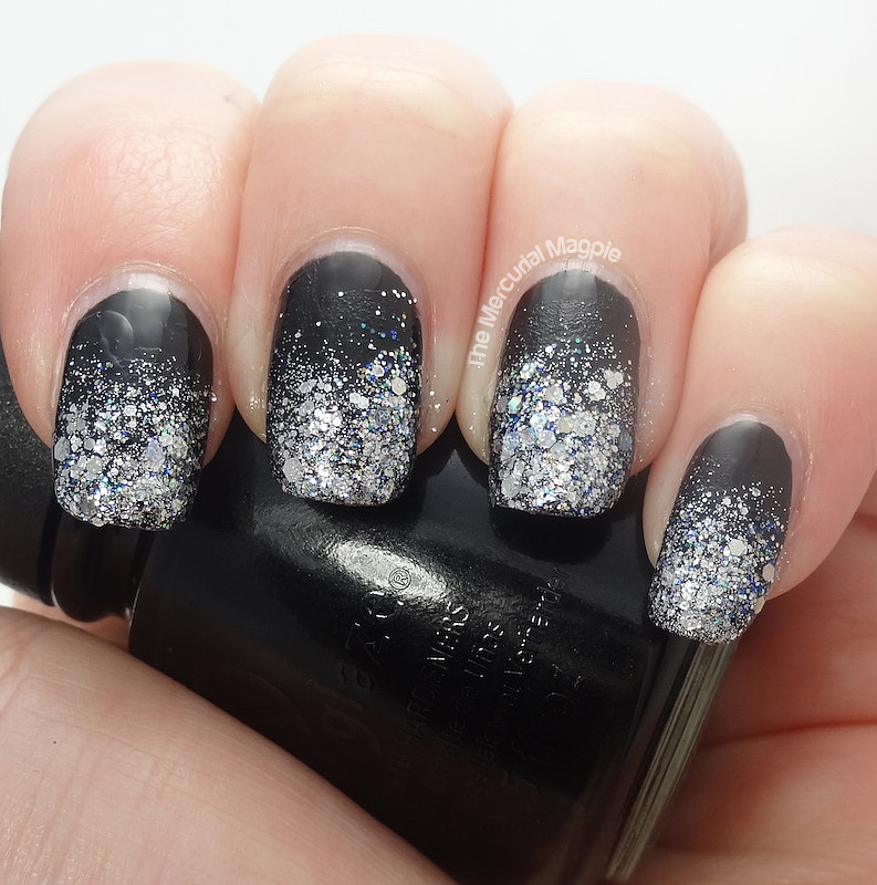 Nail Art - New Years Eve Glitter Gradient - 2014 - The ...
