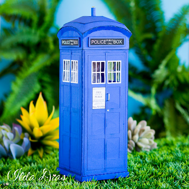 Gift,3D,SVG Cuts files,#SVGCuts,Father's Day,Gift Box,Tardis,Dr. Who's TARDIS Telephone Box,ilovedoingallthingscrafty,