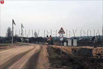 Железнодорожный переезд в Шаметово