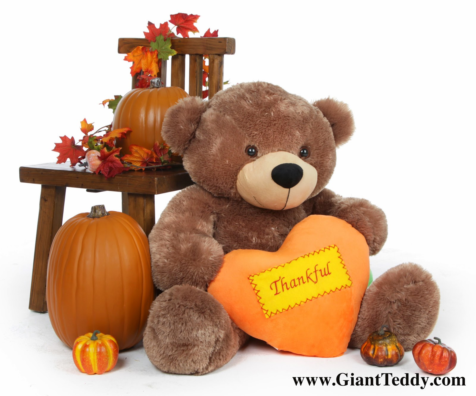 Sunny Cuddles Mocha Brown Thanksgiving Teddy Bear