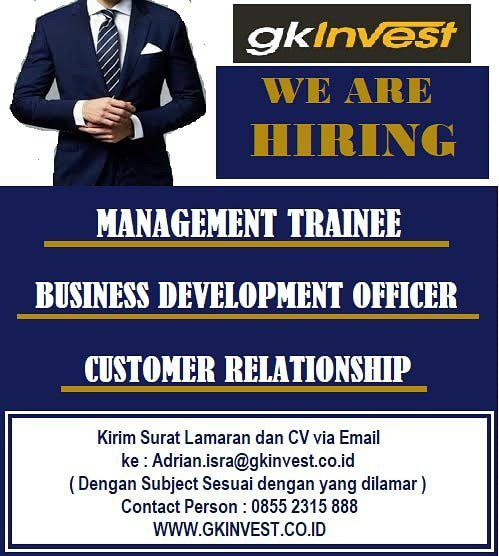 Lowongan Kerja GK Invest Bandung September 2018
