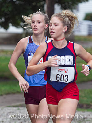 Jillian Plotner runs the best time in her prep career at the Spartan Classic