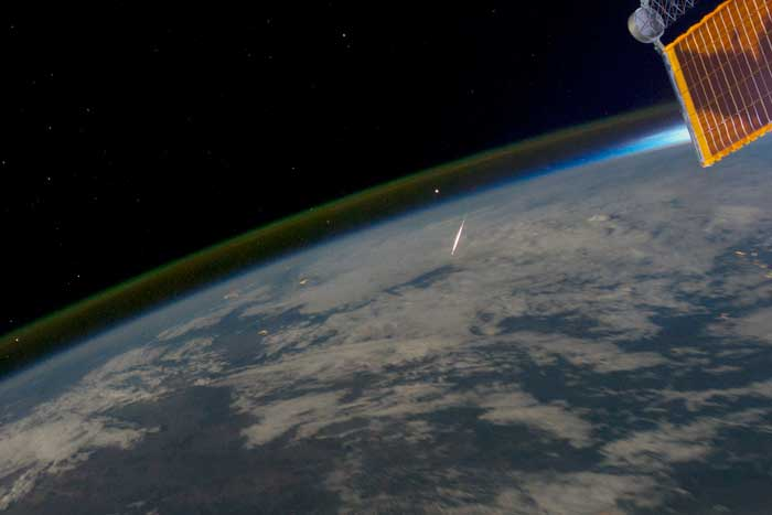 Shooting stars from International Space Station