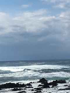 岡田港で見た海③