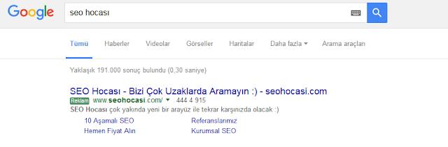 Seo Hocası Google Adwords Reklam