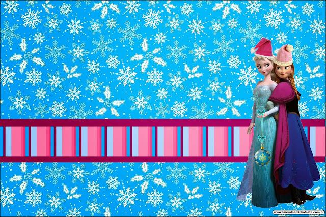 Para hacer invitaciones, tarjetas, marcos de fotos o etiquetas, para imprimir gratis de Frozen de Navidad.