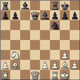 Partida de ajedrez Almirall – Clotas, 1935, posición después de 13.Cb3