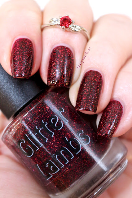 "Swatch by @LacqueredLori  This is glitter topper is called Glitter Lambs  ""Fall Cinnamon Sticks"".  See more of Lori's swatches on her website at https://lacqueredlori.wordpress.com"