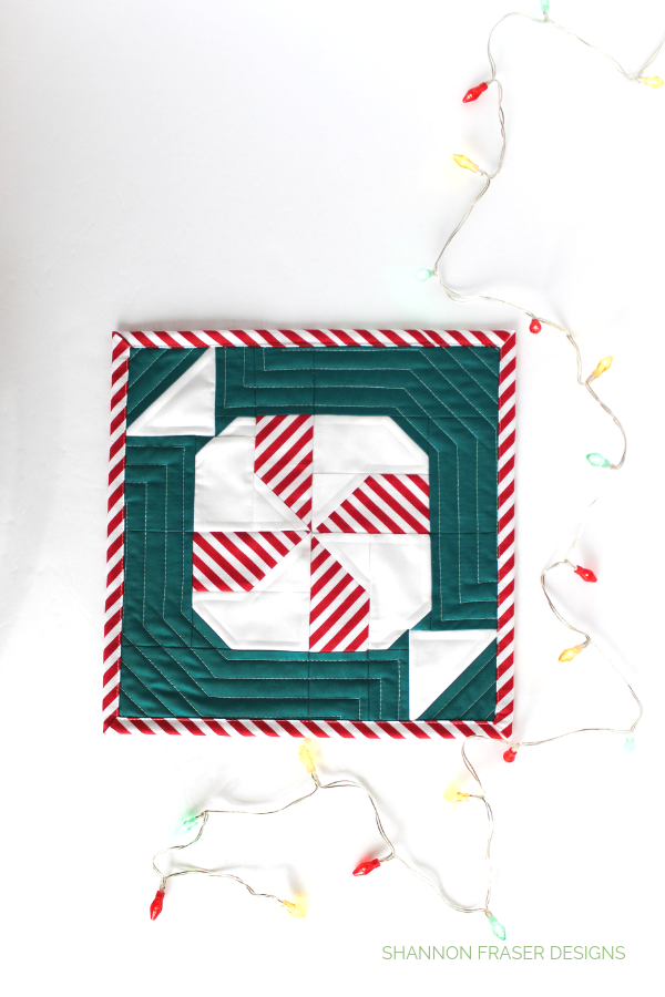 DIY Holiday | Quilted Mint Sweet Block | Love Patchwork & Quiltling #gingerbreadQAL | Shannon Fraser Designs