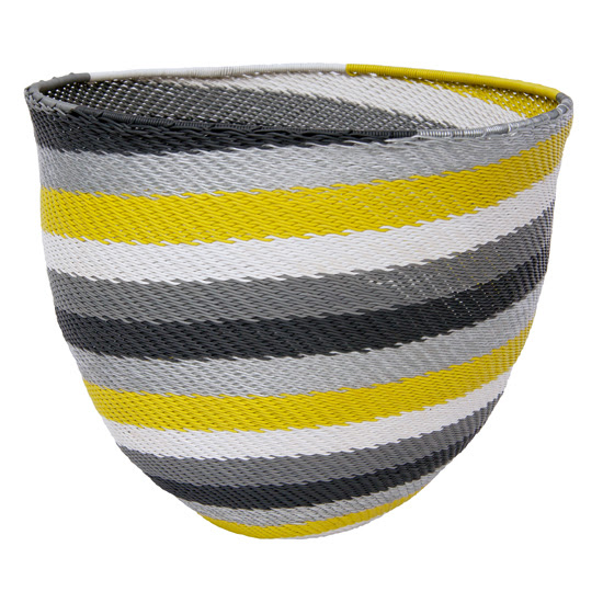 Safari Fusion blog | Vessel display | Telephone Wire Stripe Bowl (citron) by Safari Fusion www.safarifusion.com.au