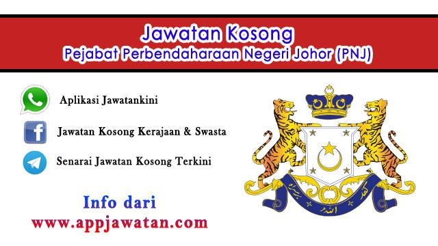 Jawatan Kosong di Pejabat Perbendaharaan Negeri Johor (PNJ