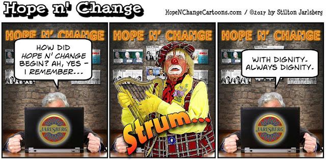 obama, obama jokes, political, humor, cartoon, conservative, hope n' change, hope and change, stilton jarlsberg, history, origin, earwigs, red meat, archive