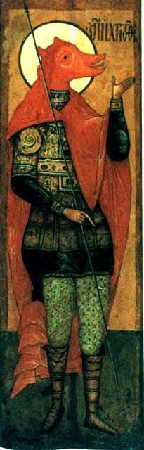 Рассказы о псоглавых людях часто встречались в повестях о путешествиях в античности и средневековье начиная с Геродотовского описания Скифии А рассматриваемая персона, как гласит житие, была включена в военное подразделение, состоящее из марматанцев (Marmaritae). Это племя было независимым народом Мармарики (современная Ливия), которое было вытеснено к границам после римской колонизации. Как человек из приграничного племени, считают критики, он вполне (в рамках образного языка своего времени) мог быть описан как псоглавец, а различные чудеса, приписываемые ему восточными легендами, — обычные атрибуты житий святых первых веков христианства. По мнению критиков, ни один из упомянутых фактов не позволяет его идентифицировать как фактически существовавшего человека. По-гречески его имя — просто «несущий Христа», и в восточной традиции это соотносится с готовностью этого святого «нести крест» — частая метафора для обращения в христианство. Его языческое имя Reprebus — это просто «отверженный, дурной», так что сама история его крещения другим именем в двух словах сводится к примитивному: «дурной человек обратился в христианство». К тому же, утверждают критики, могилы святого Христофора не показывают нигде. Эта критика, однако, не принимает в расчёт тот факт, что наличие мощей «мученика Христофора с лицом точь-в-точь как у собаки» было письменно зафиксировано во второй половине XVII века.