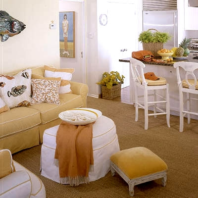 yellow beach cottage decor