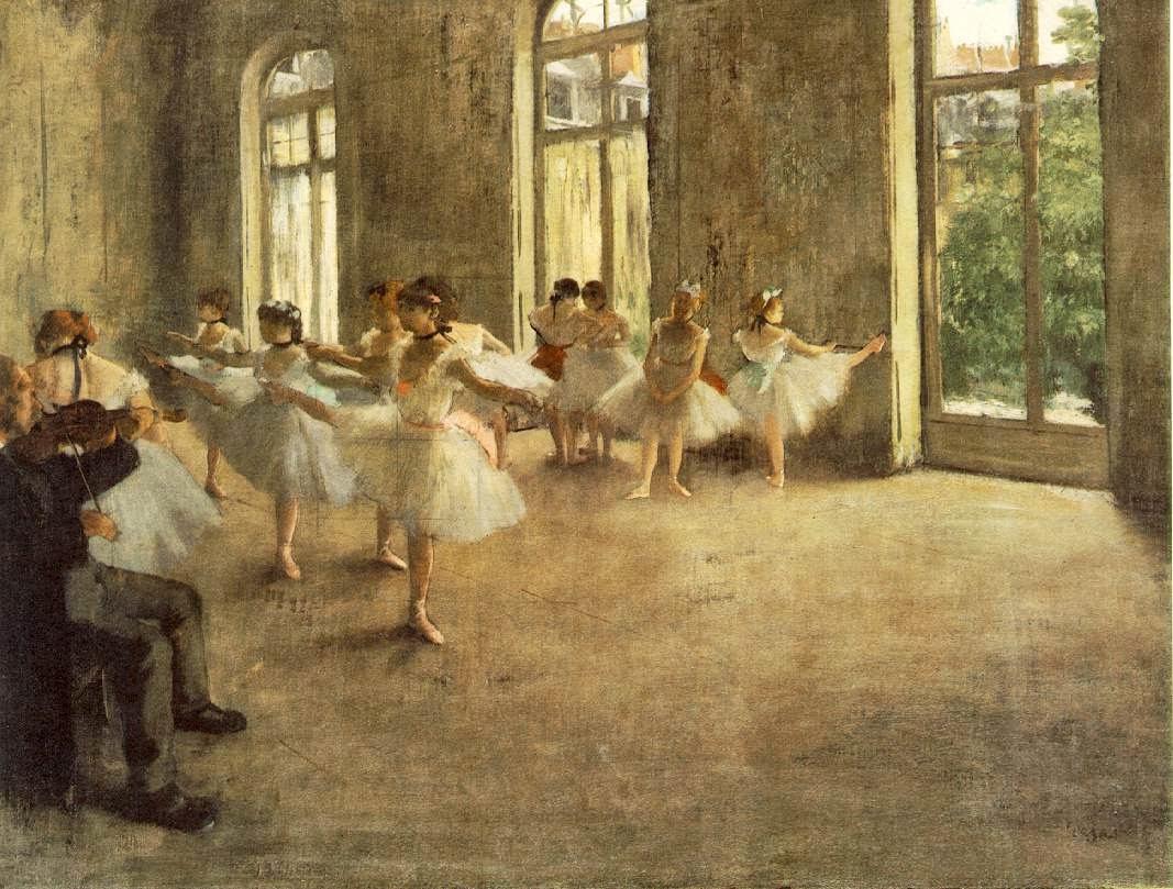 O Ensaio - Edgar Degas e suas principais pinturas ~ O Pintor de Bailarinas
