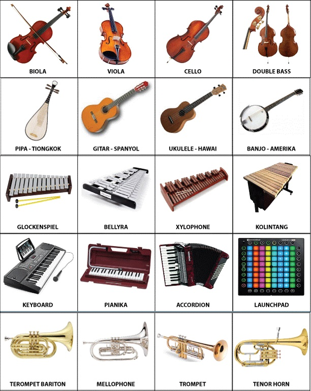 Alat Musik Yang Tidak Bernada Disebut : musik, tidak, bernada, disebut, Pengertian, Gambar, Musik, Tiup,, Petik,, Gesek,, Pukul,, Tekan, Redaksiweb