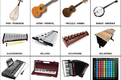 Pengertian dan Gambar Alat Musik Tiup, Petik, Gesek, Pukul, dan Tekan