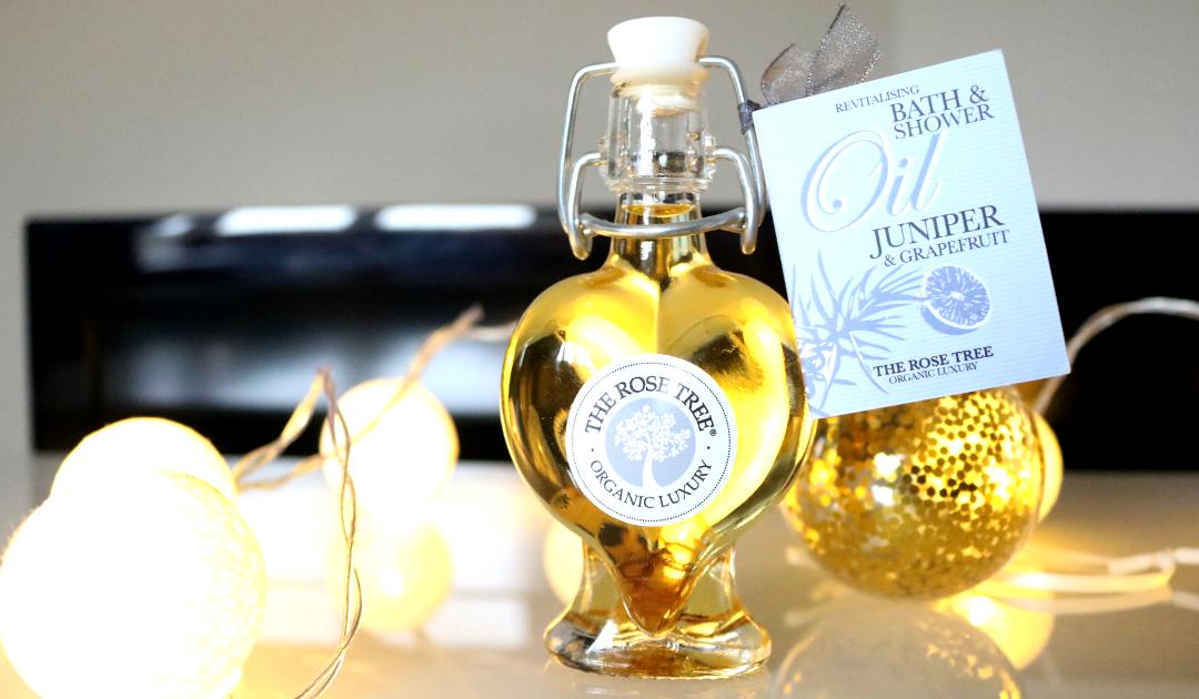 The Rose Tree Revitalising Bath & Shower Oil in Juniper & Grapefruit