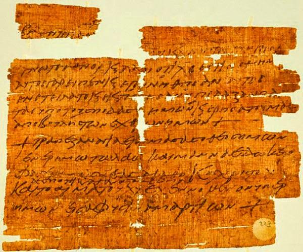 Papirus Kuno Perjamuan Terakhir