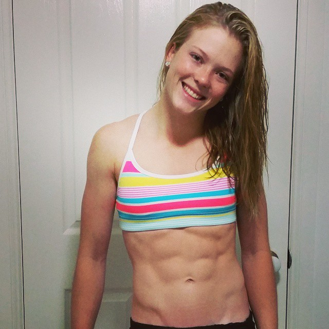 Female Hard Abs Porn 80