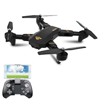 Foldable RC Drone Quadcopter With Wide Angle High Definition Video Camera - VISUO