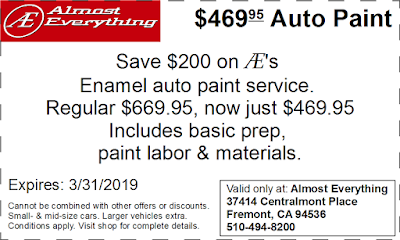 Coupon $469.95 Auto Paint Sale March 2019