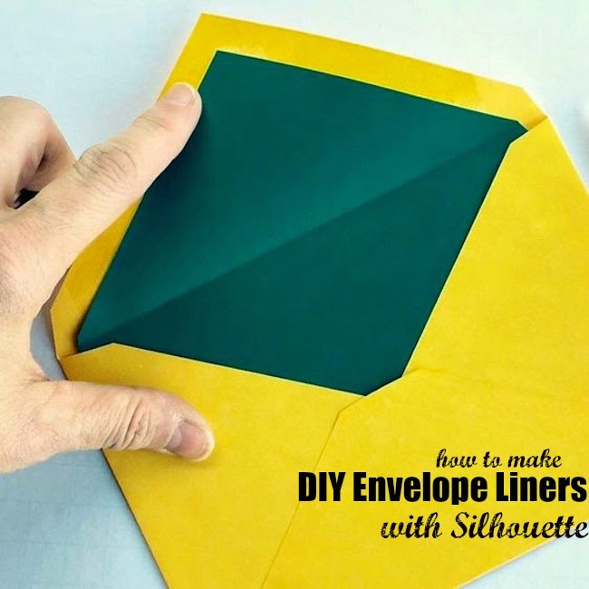 Silhouette Cameo, envelope liners, DIY, do it yourself