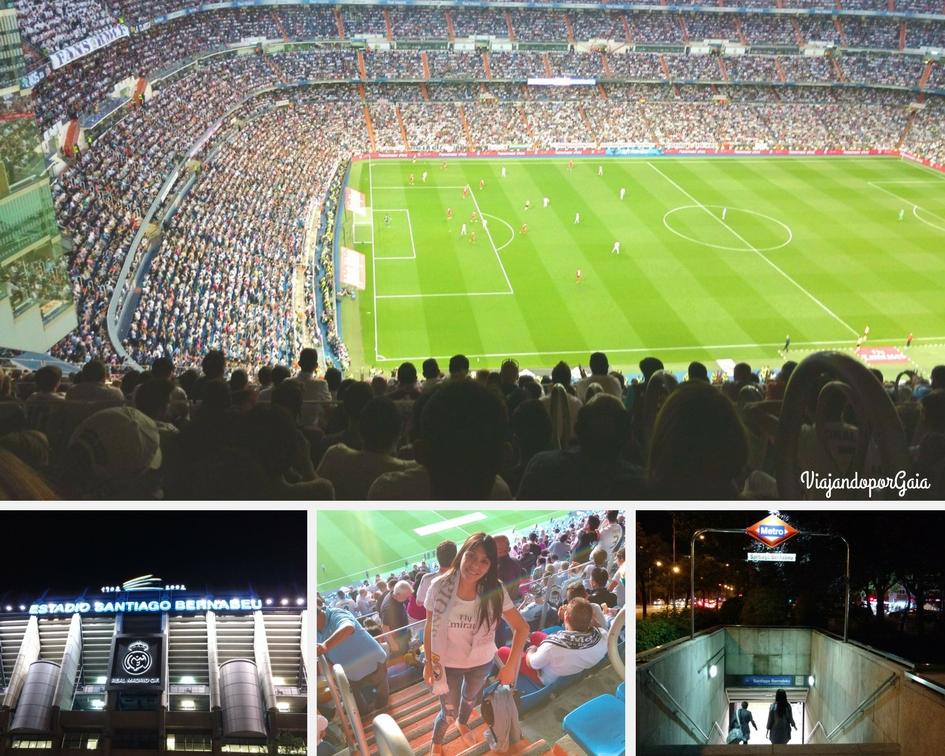 Interior y exterior del Estadio Santiago Bernabeu durante el partido del Real Madrid vs Sevilla.
