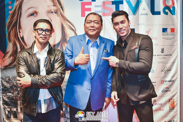 Among the guests at le French Festival 2016  in GSC PKL :(L-R) Abie Aiman, Dato Mahadzir Lokman, and Yusof Tony