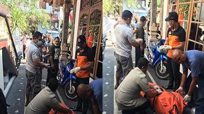 Jenazah Ni Putu Atrini di TKP, Rabu (17/8/2016)
