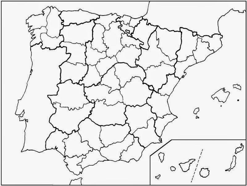 Maestra de Primaria Mapas mudos de Espaa
