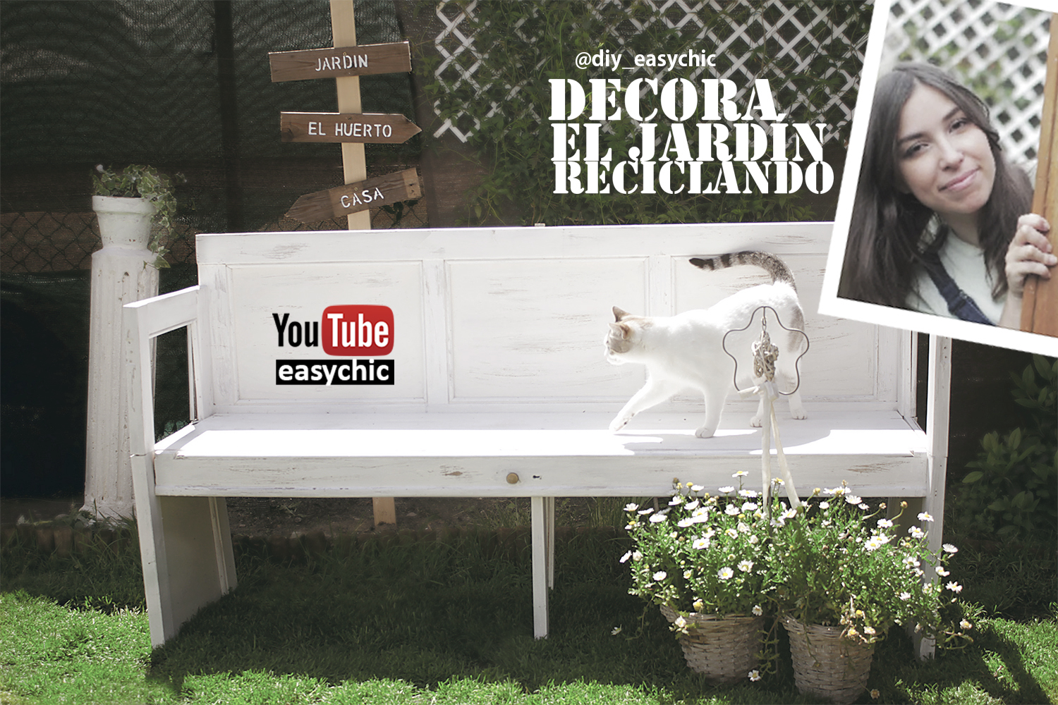 Easychic ideas para decorar el jard n reciclando diy for Ideas para decorar reciclando
