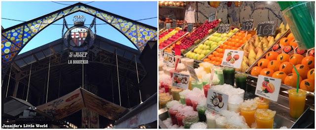 La Boqueria Food Market in Barcelona