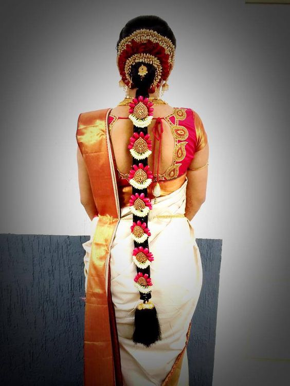 10 Best Hairstyles for Tamil Wedding - Candy Crow