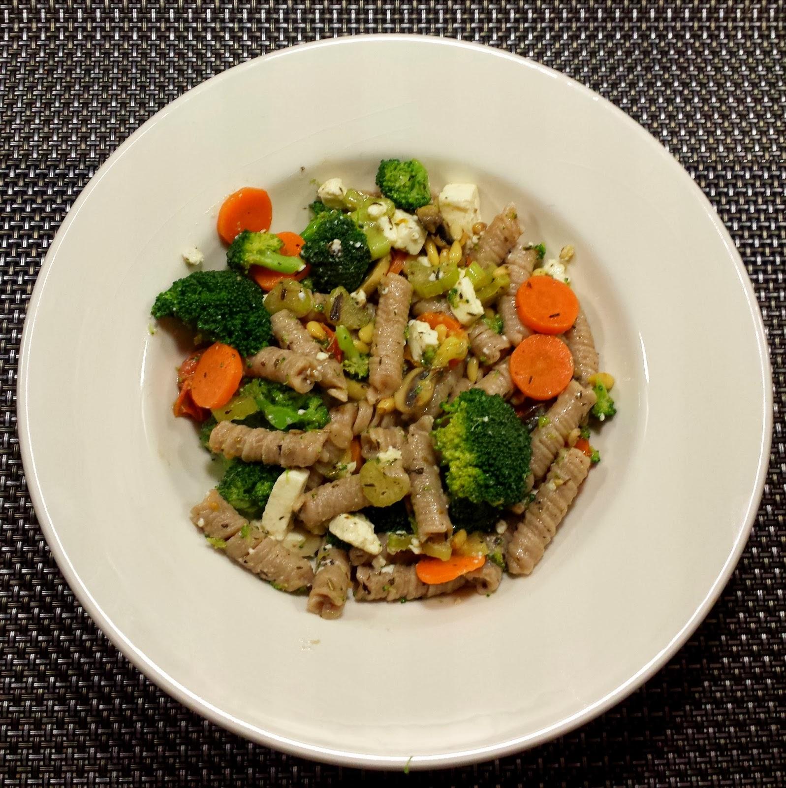 Speltpasta met groente