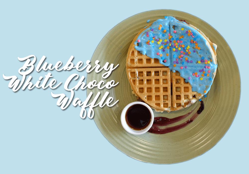 Blueberry White Choco Waffle