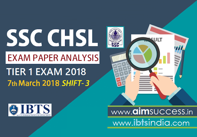 SSC CHSL Tier-I Exam Analysis 7th March 2018: Shift - 3