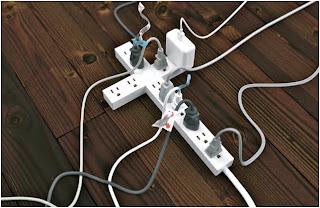 Jesus Cross multi plug adapter photo