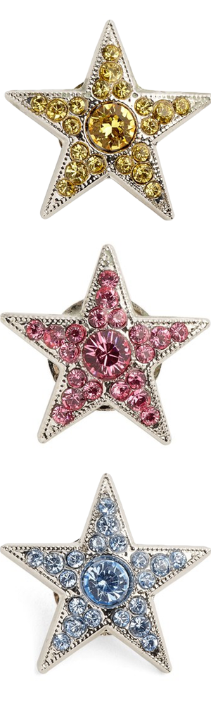 Jimmy Choo Large Starry Crystal Button Cover (each sold separately)
