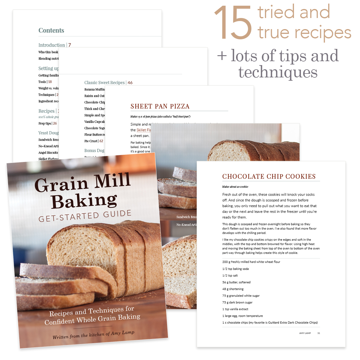 Grain Mill Baking Get-Started Guide PDF page samples