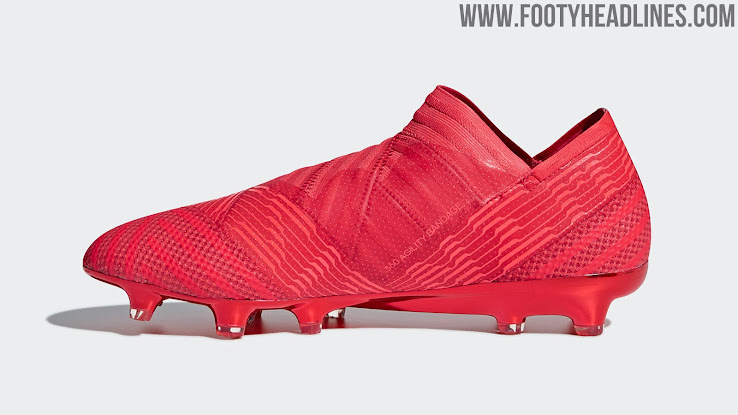 d6eb85debc15 The second Adidas Nemeziz cleats in 2018 overall, the new boots combine  different shades of red and pink for the model's iconic striped upper, ...