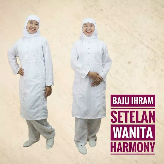 Stelan Baju Ihrom Wanita Harmony