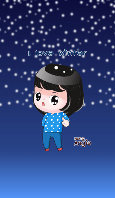 NONG ANGIE : I LOVE WINTER