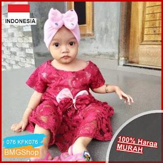 KFK076 Dress Brokat Anak Cewek Baby BMGShop